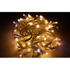 """Гирлянда """"Нить"""" (String Light ) - 10м. 100Led тепло белое мерцание, белый кабель"""