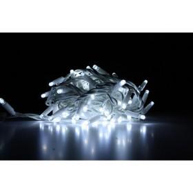 """Гирлянда """"Нить"""" (String Light ) - 10м. 100Led холодно белый+ мерцание, белый кабель"""