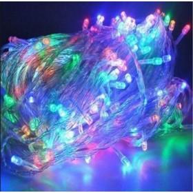 "Гирлянда ""Нить"" (String Light ) - 10м. 100Led RGB свет, белый ПВХ кабель"