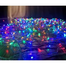 "Гирлянда ""Нить"" (String Light ) -20м. 200Led RGB свет, белый ПВХ кабель"