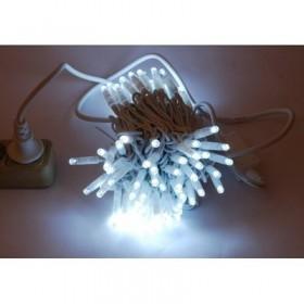 """Гирлянда """"Нить"""" (String Light ) - 10м. 100 Led холодно белое мерцание, белый кабель"""
