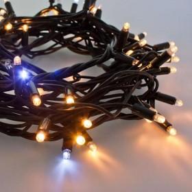 """Гирлянда """"Нить"""" (String Light )- 10м. 100Led тепло белый + мерцание, черный кабель"""