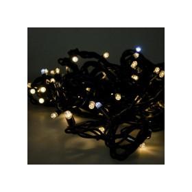 """Гирлянда """"Нить"""" (String Light ) - 10м. 100Led тепло белый+ мерцание, черный кабель"""
