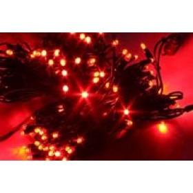 """Гирлянда """"Нить""""(String Light ) - 10м. 100Led красное свечение с мерцанием, черный кабель"""