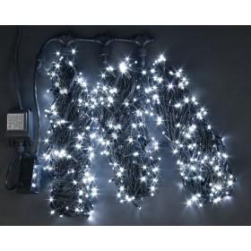 """Гирлянда """"Нить"""" (String Light )- 10м. 100Led холодно белый  мерцание свет, белый кабель"""
