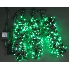 """Гирлянда """"Нить"""" (String Light ) 10м. 100Led зеленая мерцающая, черный кабель"""
