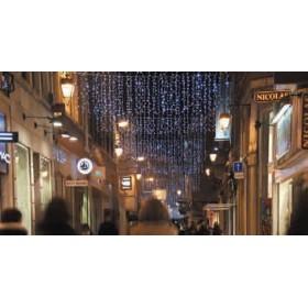 BLACHERE Гирлянда-штора JOY LIGHT 2x10м 1350 белый резиновый кабель, 1350led