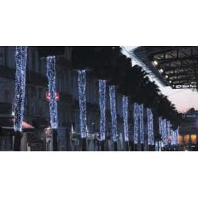 BLACHERE Гирлянда-штора Eco led curtain 2x7м резиновый кабель, белый, 7500led
