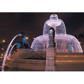 BLACHERE Гирлянда-штора с эффектом водопада JOY LIGHT  2x2 м 400LED прозрачный ПВХ кабель
