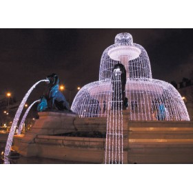 BLACHERE Гирлянда-штора с эффектом водопада JOY LIGHT  2x5 м 800led  прозрачный ПВХ