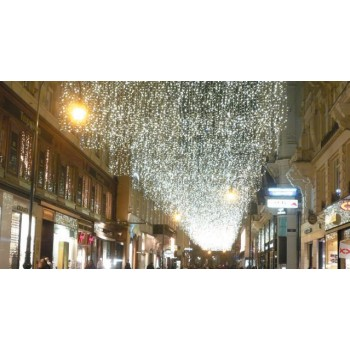 Светодиодная гирлянда штора ECO JOY LIGHT®  2x10м, белый кабель, резиновый, 1050led