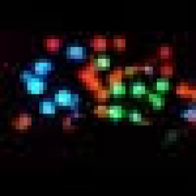 """Гирлянда """"Нить""""(String Light ) - 8м. 100Led RGB свет, черный кабель"""