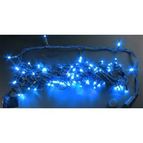 """Гирлянда """"Нить"""" (String) 10 м, 100 LED синий цвет, черный кабель"""
