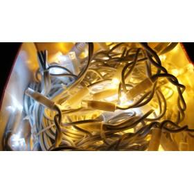 """Гирлянда """"Нить""""(String Light ) - 10м. 100Led холодно белый свет, черный кабе"""