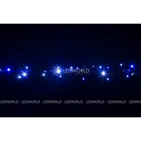 """Гирлянда """"Нить""""(String Light ) - 10м. 100Led синий+ флеш, белый кабель"""
