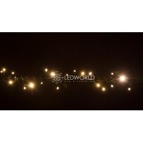 """Гирлянда """"Нить""""(String Light ) - 8м. 100Led тепло белый + флеш, черный кабел"""
