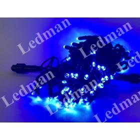 """Гирлянда """"Нить"""" (String Light ) - 10м. 100Led синее мерцание, черный кабель"""